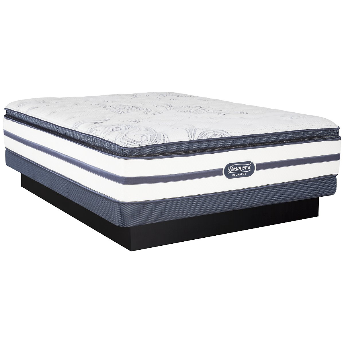 Beautyrest Recharge Audrina Luxury Firm Innerspring Pillow Top Low-Profile Mattress Set