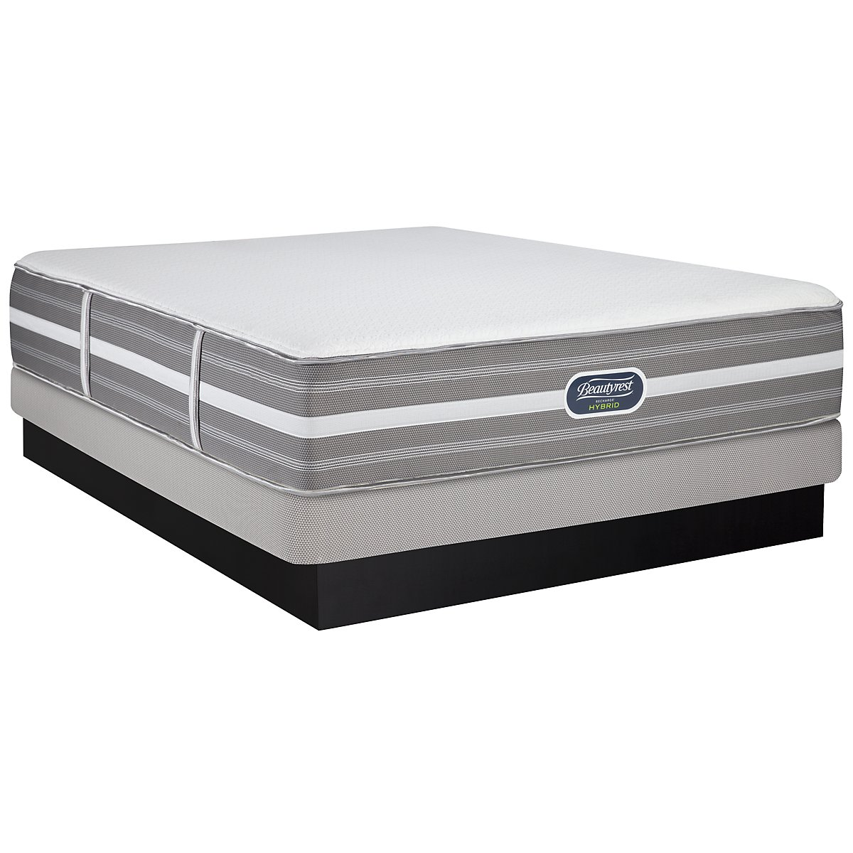 Beautyrest Marlee Plush Hybrid Low-Profile Mattress Set