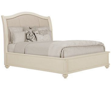 Coventry White Upholstered Platform Bed
