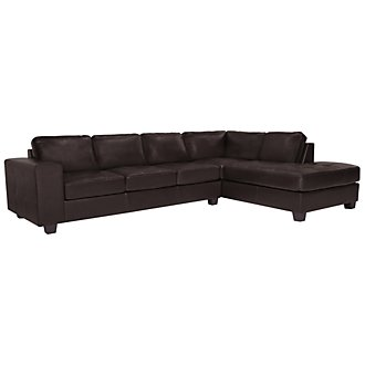 Product Image: Serina3 Dk Brown Microfiber Right Chaise Sectional