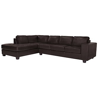 Product Image: Serina3 Dk Brown Microfiber Left Chaise Sectional