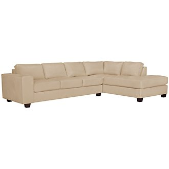 Product Image: Serina3 Beige Microfiber Right Chaise Sectional