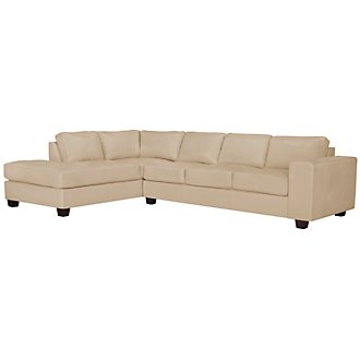 Product Image: Serina3 Beige Microfiber Left Chaise Sectional