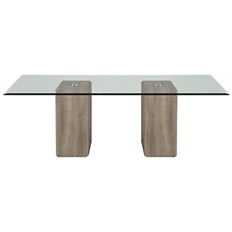 Adele2 Light Tone Glass Coffee Table