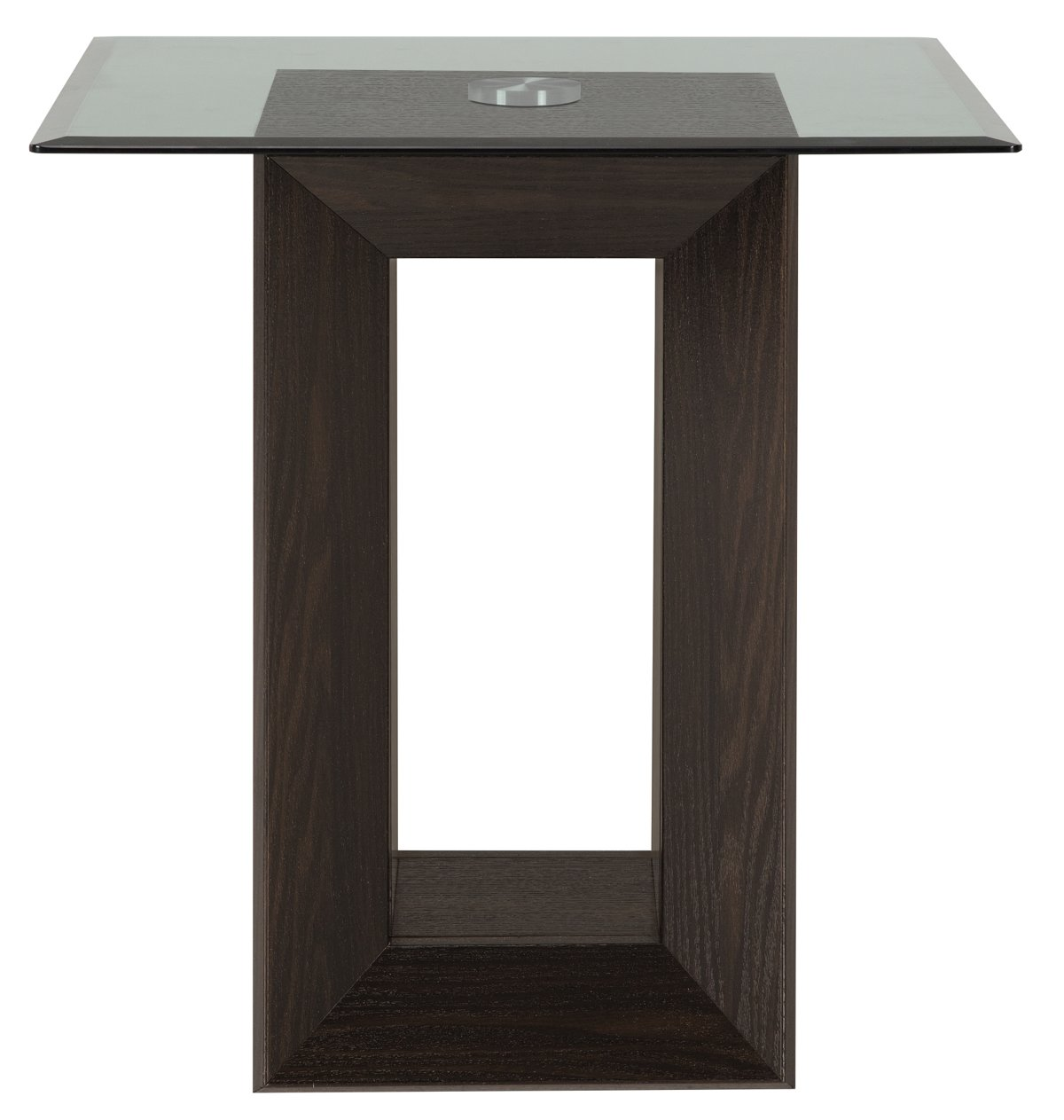 City Furniture Adele2 Dark Tone Glass End Table