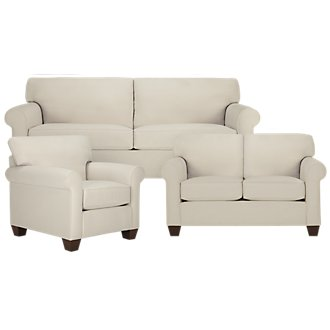 Corlis Lt Beige Fabric Living Room