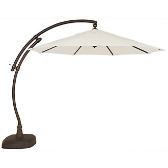 Cayman White Cantilever Umbrella Set