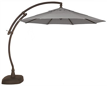 Cayman Gray Cantilever Umbrella Set
