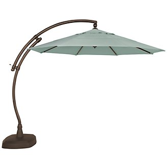 Cayman Teal Cantilever Umbrella Set