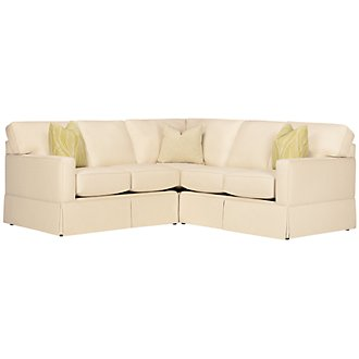 Product Image: Poppy Green Fabric Small Two-Arm Sectional