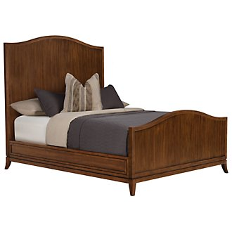 Product Image: Savoy Mid Tone Wood Panel Bed