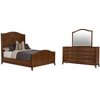 Savoy Mid Tone Wood Panel Bedroom