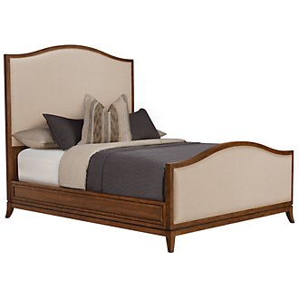 Savoy Mid Tone Upholstered Panel Bed