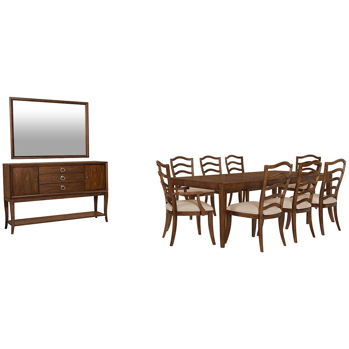 Savoy Mid Tone Rectangular Dining Room