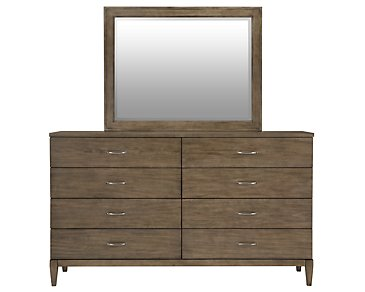 Preston Gray Dresser & Mirror