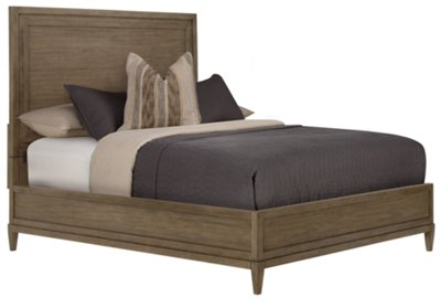 preston gray wood platform bed - Wooden Platform Bed