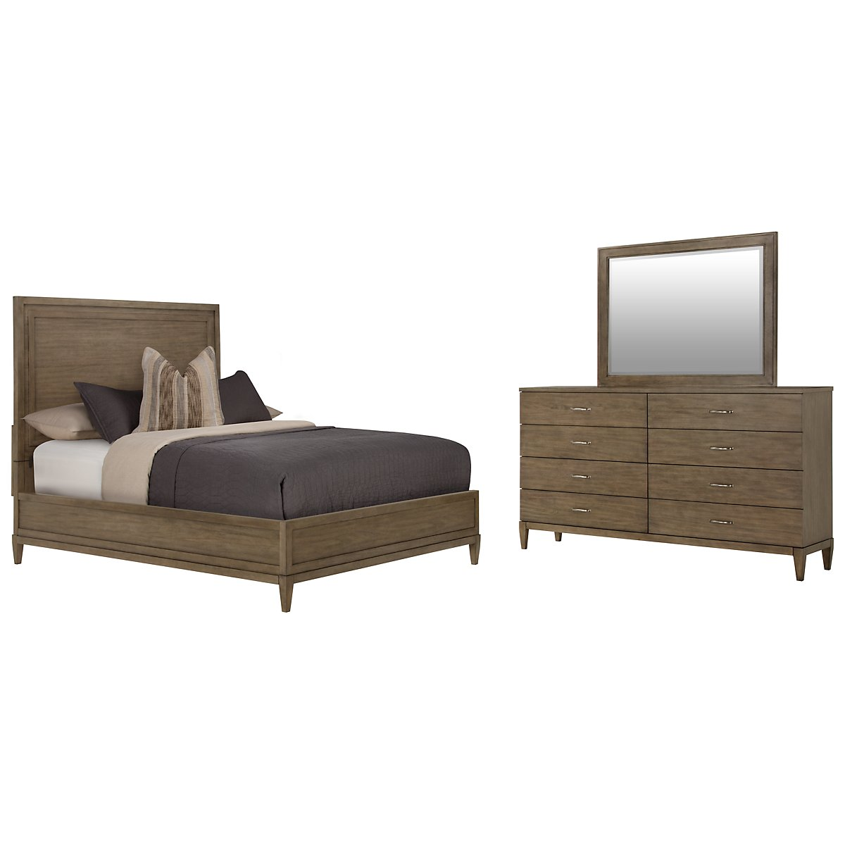 Preston Gray Wood Platform Bedroom