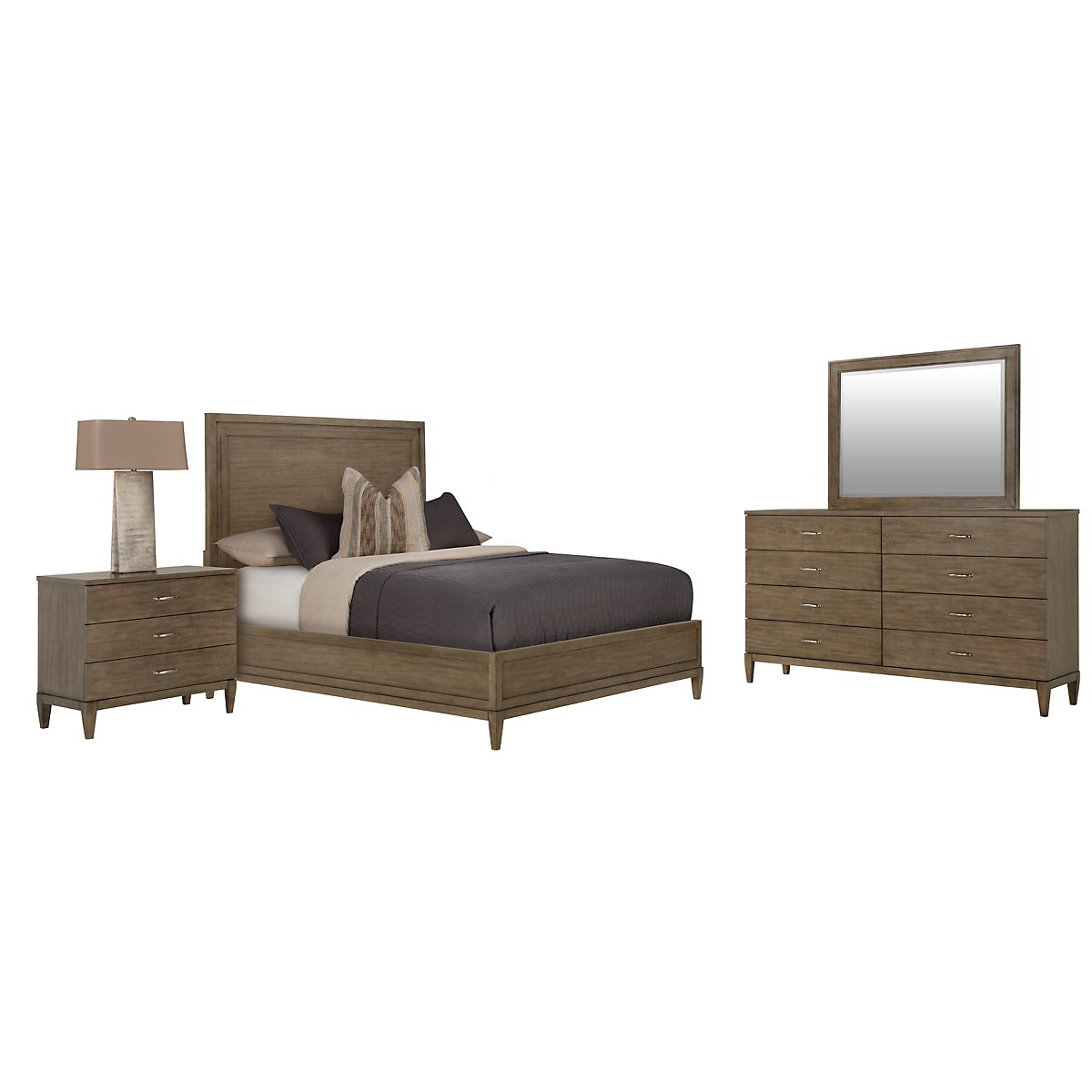 city furniture preston gray wood platform bedroom