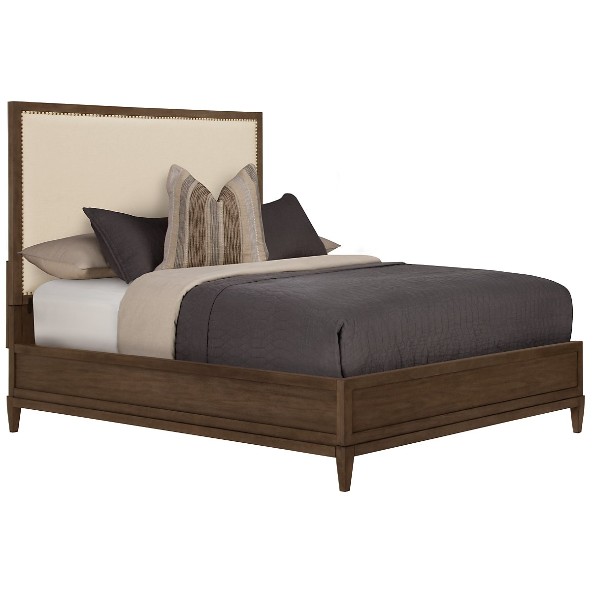 Preston Mid Tone Upholstered Platform Bed