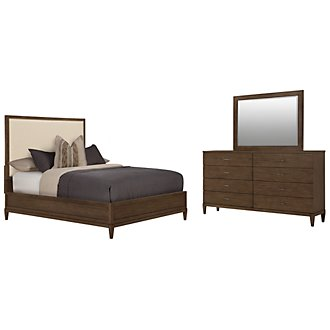 Preston Mid Tone Upholstered Panel Bedroom