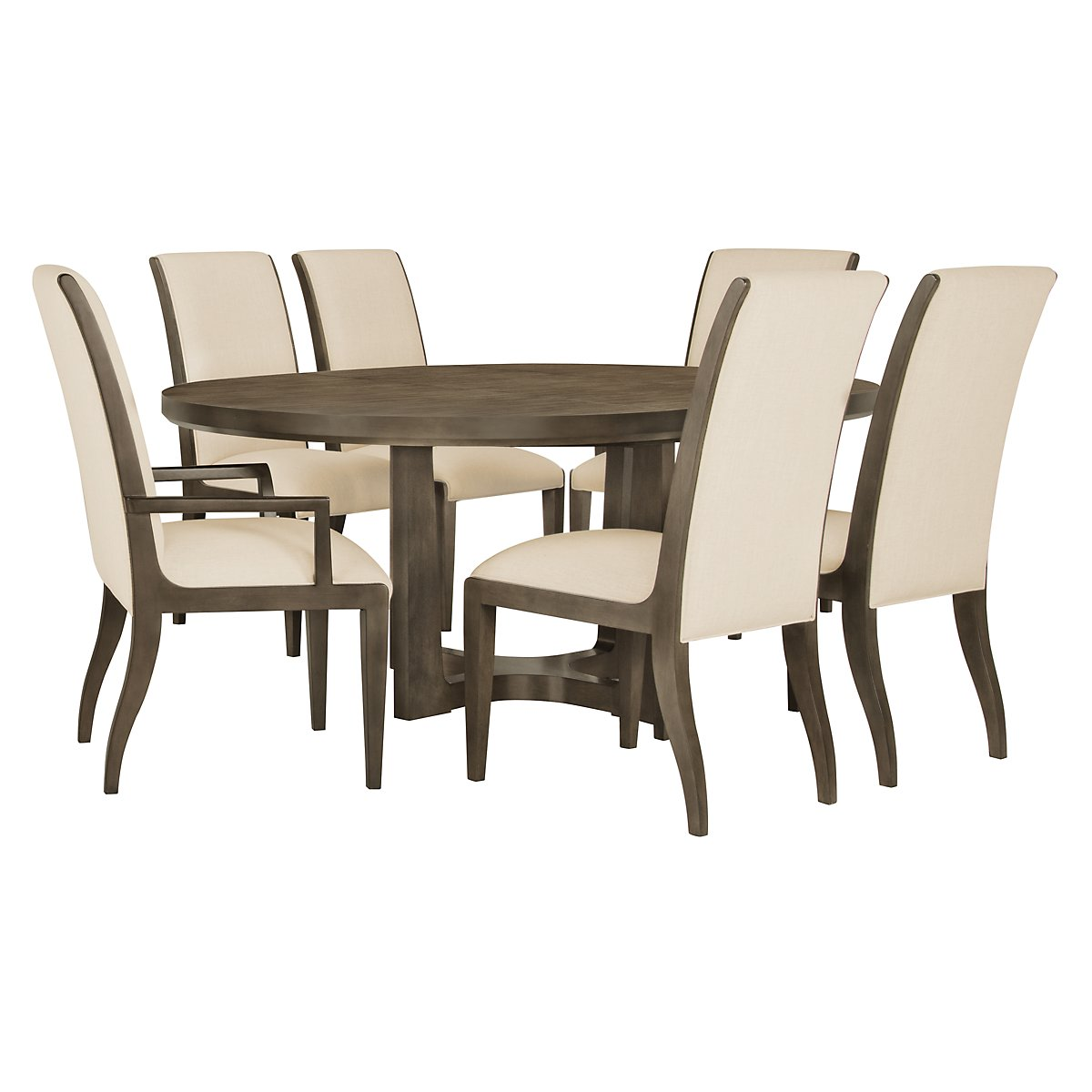 City Furniture Preston Gray Sloped Upholstered Side Chair