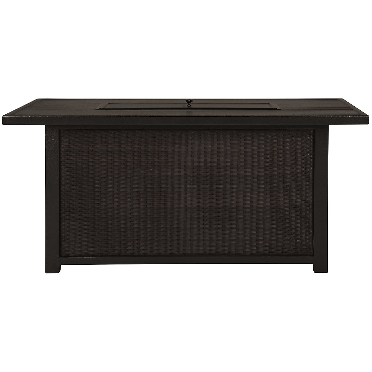 Fina Dark Tone Rectangular Fire Pit