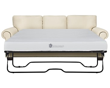Erin White Fabric Memory Foam Sleeper
