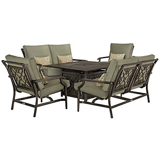 Harbor2 Dark Tone Rocking Outdoor Living Room Set