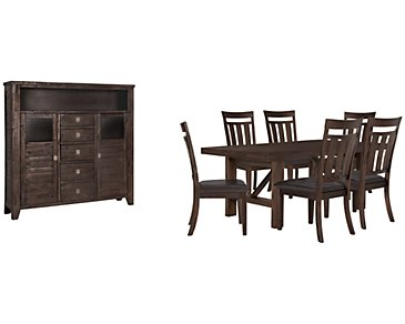 Kona Grove Dark Tone Rectangular Large Dining Room
