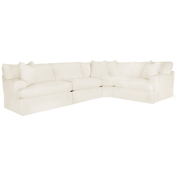 Image Of Delilah White Fabric Small Two Arm Sectional With Sku 9707940