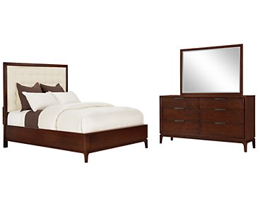 Harmony Dark Tone Platform Bedroom