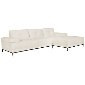 Product Image: Giovanni White Fabric Right Chaise Sectional