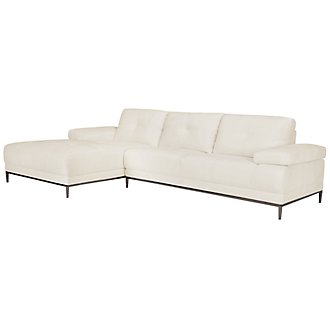 Product Image: Giovanni White Fabric Left Chaise Sectional