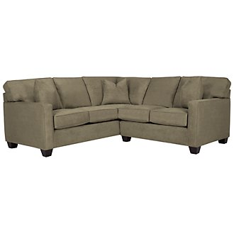 Product Image: Keane Dk Green Microfiber Small Two-Arm Sectional