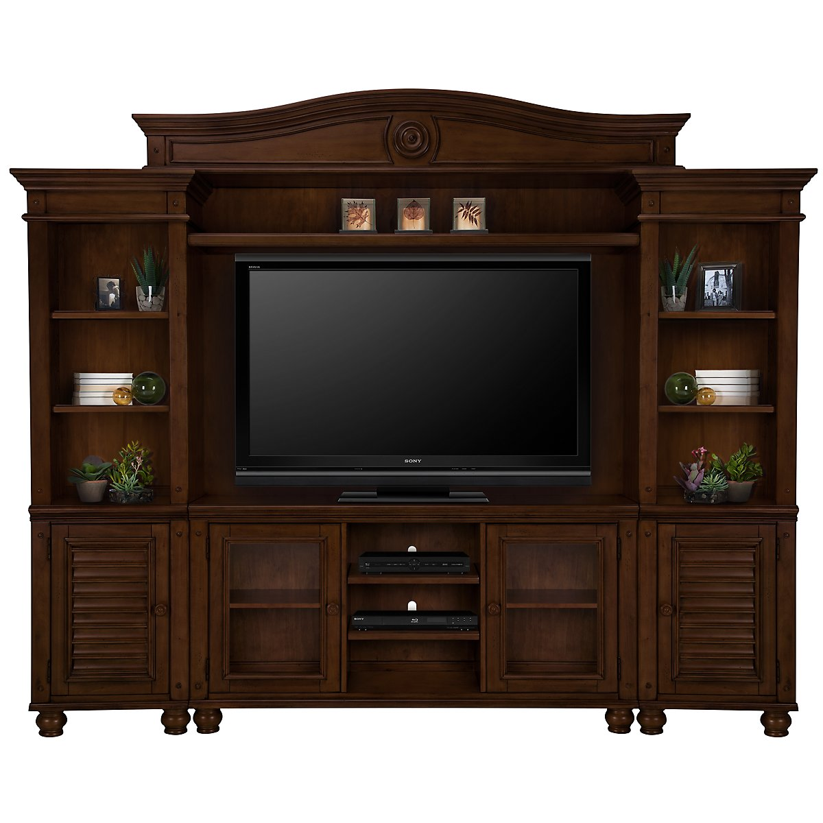 Claire Dark Tone Entertainment Wall