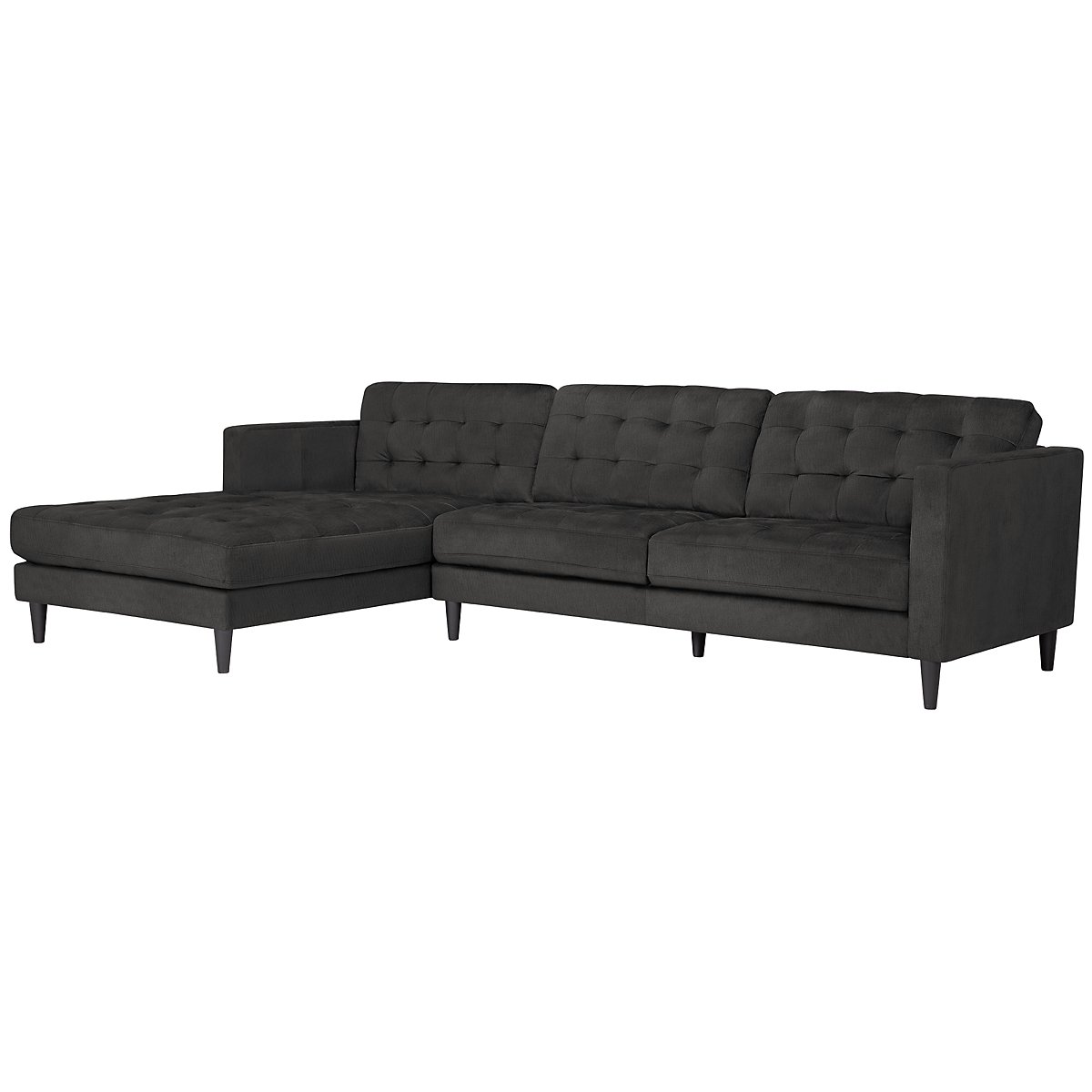 City furniture shae dark gray microfiber left chaise for Gray microfiber sectional sofa with chaise