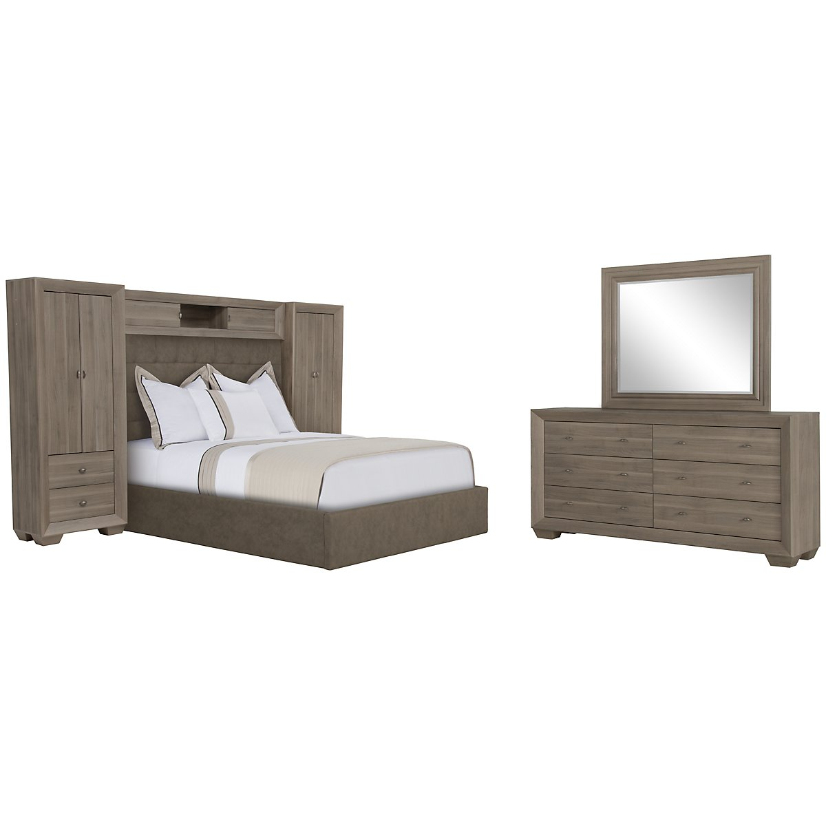 Adele2 Light Tone Upholstered Wall Bedroom