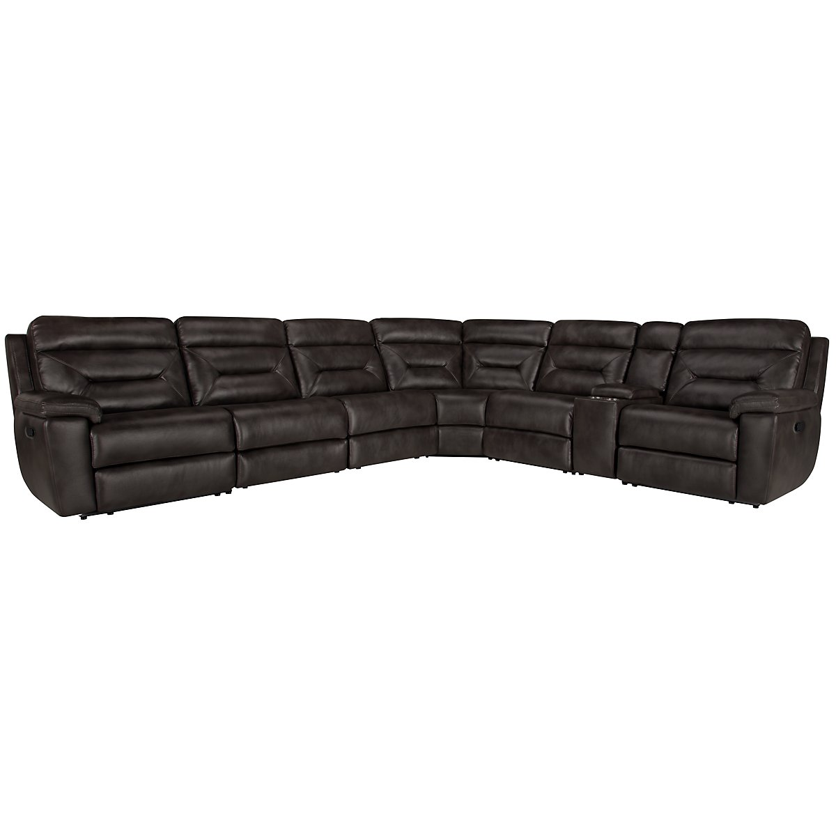 Phoenix Dk Gray Microfiber Large Two-Arm Manually Reclining Sectional