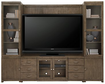 Preston Gray Entertainment Wall