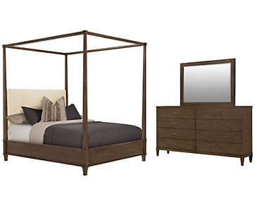 Preston Mid Tone Canopy Bedroom
