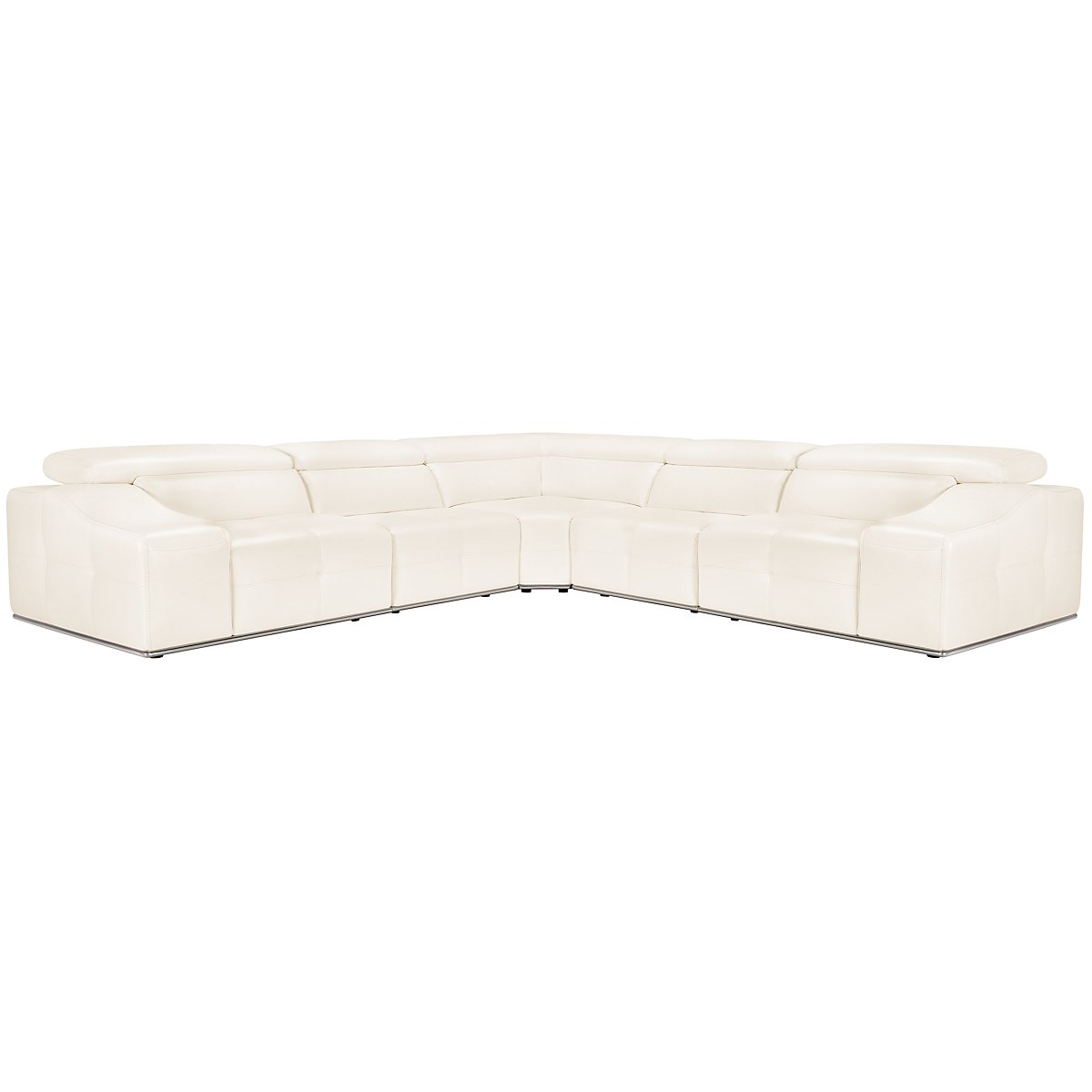 Lazio White Microfiber Small Two-Arm Sectional