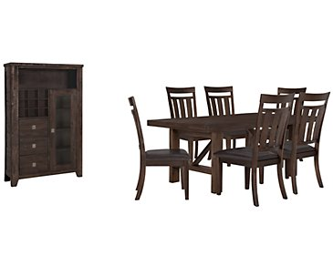 Kona Grove Dark Tone Rectangular Small Dining Room