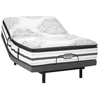 Beautyrest Platinum Gabriella Plush Innerspring Select Adjustable Mattress Set