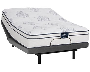 Serta Perfect Sleeper Belltower Plush Innerspring Deluxe Adjustable Mattress Set