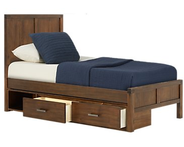 Jake Dark Tone Panel Storage Bed