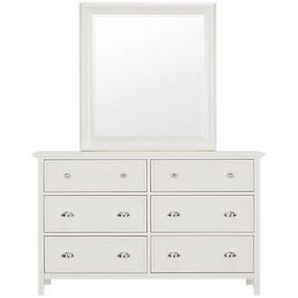 Spencer White Dresser & Mirror
