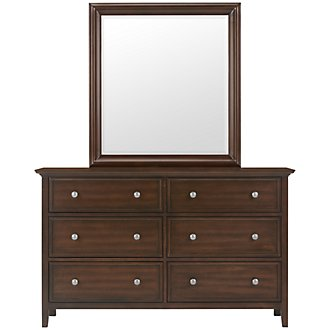 Spencer Mid Tone Dresser & Mirror