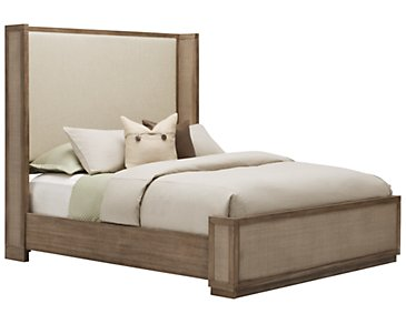 Mirabelle Light Tone Upholstered Shelter Bed