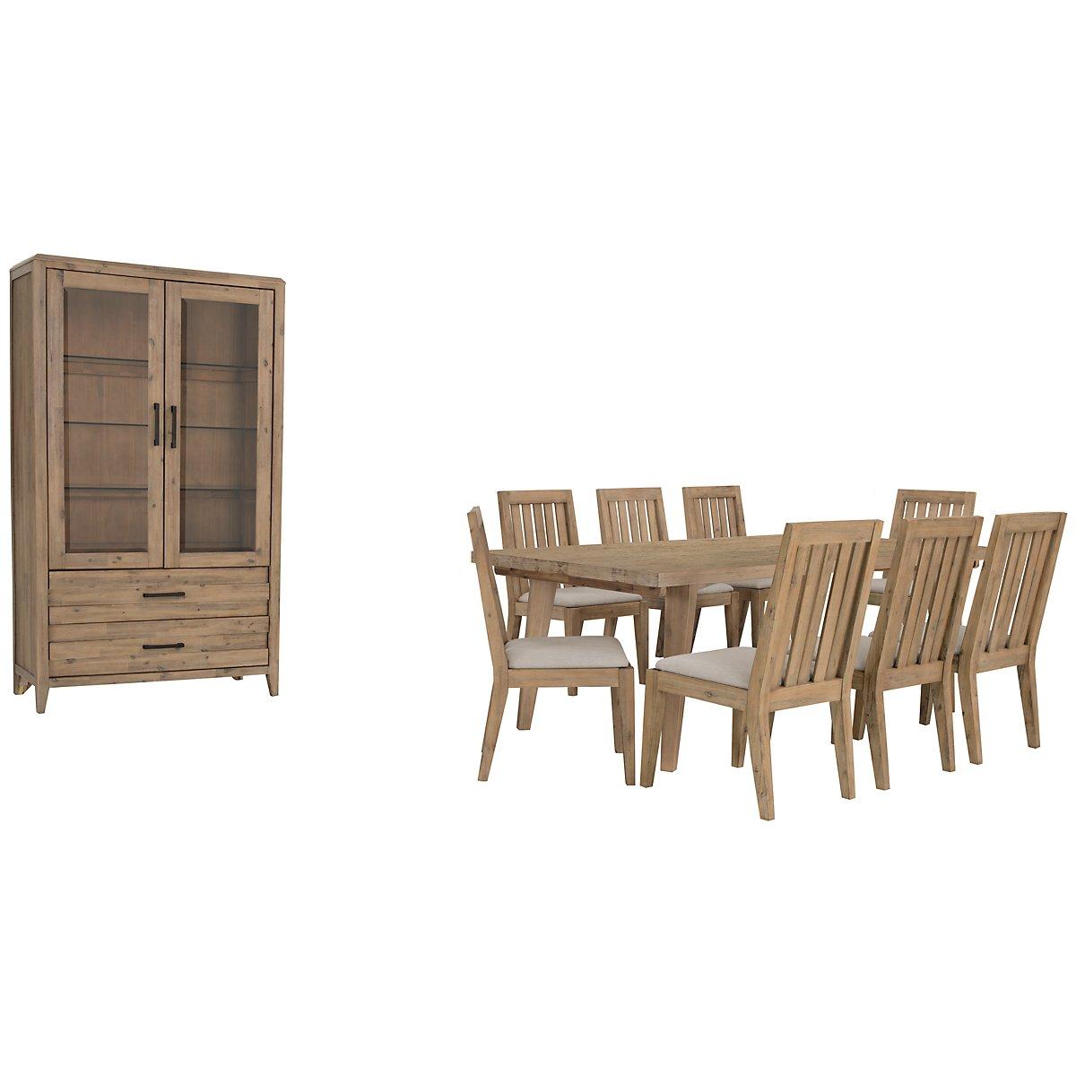 City Furniture Casablanca Light Tone Rectangular Dining Room