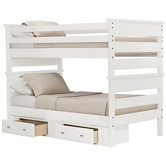 Laguna White Storage Bunk Bed